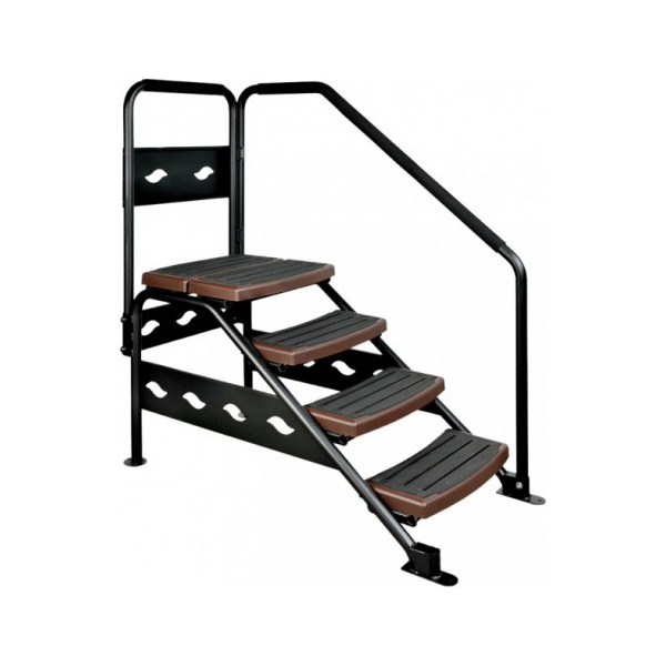 swimspa treppe 4 stufen schwarz wellnessland. Black Bedroom Furniture Sets. Home Design Ideas